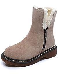 Botas de algodón Retro plano antideslizante Zapatos casuales para mujeres , 42 , black