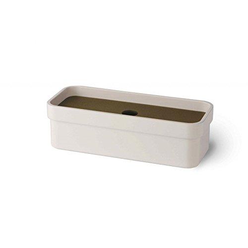 Preisvergleich Produktbild Lineabeta CURVÀ Schale mit lackiertem Deckel Melamin weiß, 5148.21