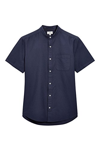 next Herren Kurzarm Oxford-Shirt Mit Knopfleiste Normale Passform T Shirt Top Marineblau