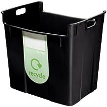 Leitz 52090095 - Papelera de reciclaje de polipropileno (40 l), color negro