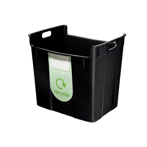 Leitz 52090095 Wertstoffsammelbehälter, 40l, Polypropylen, schwarz