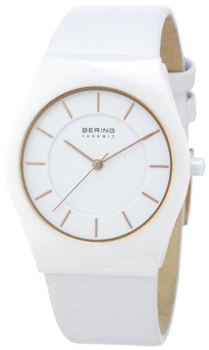 Bering Time - 32035-656 - Montre Homme - Quartz Analogique - Bracelet Cuir Blanc