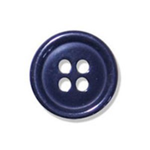 Round Jacket Button Navy 4 Hole 15mm by Plush Addict