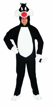 Looney Tunes Herren Kostüm Kater Sylvester Karneval Gr.48-52 (Looney Tunes Kostüm)
