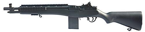 rsoft Spring/Federdruck Gewehr in Schwarz, Nachbildung des M14 Stil Gewehr, unter 0.5 Joules, Hop up, GRATIS 2000 BULLDOG BBS 0.12G ()