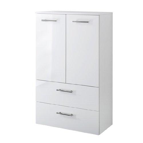 Held Möbel Blanco 220.3007 Midi Cupboard 1 Door / 2 Drawers / 2 Shelves 35 x 114 x 35 cm High-Gloss White