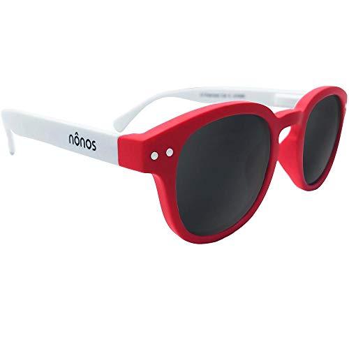 4a8dccaa5 Nônos Gafas de sol de calidad para niños. Certificadas, con lentes  polarizadas de categoría 3, protección 100% UV. (Lollipop)