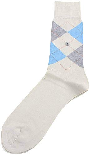 Burlington Herren Socken Manchester Baumwolle Raute Onesize 40-46 - Farbauswahl: Farbe: Beige