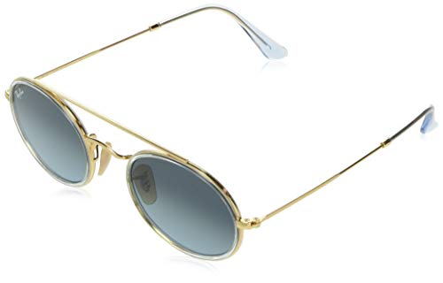 Ray-Ban Sonnenbrillen OVAL Double Bridge RB 3847N Gold/Grey Shaded Unisex