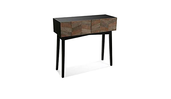 VERSA - table console contemporaine noire bois versa 21080057 a59a0b4dcc98