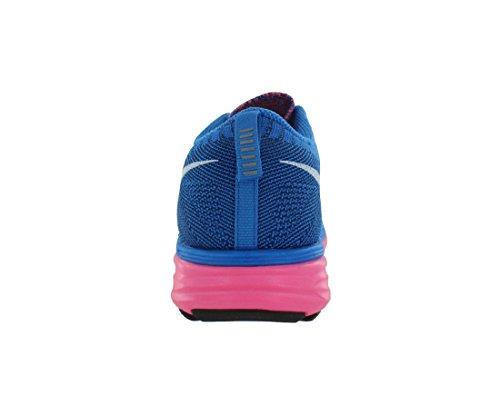 Nike Flyknit Lunar2, Scarpe sportive, Uomo pink flash white photo blue brave blue 602