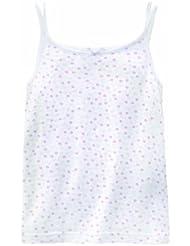 Bellybutton Kids Mädchen Unterhemd  10421-00-90614 Unterhemd mit Schleifchen, white / soft violet