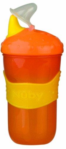 Nuby ID9852 - Bicchiere con beccuccio rigido, 210 ml
