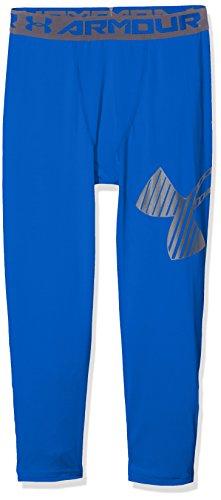 Under Armour Jungen Armour 3/4 Logo Legging, Ultra Blue, YM (Coldgear Leggings Kinder)