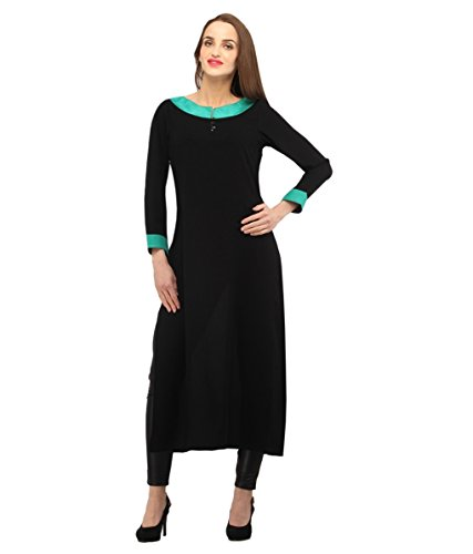 Fusion Multicolor Cap Half Long Short Sleeve sleeveless Kurtis Kaftan for Girls (GT1-KBR-BLF-XXL)