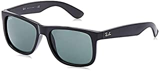 Ray-Ban - Justin Wayfarer Lunettes de Soleil - Noir (Black/Green) - 54 mm (B00ESVZSFO) | Amazon price tracker / tracking, Amazon price history charts, Amazon price watches, Amazon price drop alerts