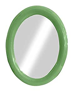 Baal Simple Lightweight Bathroom Mirror for Home Green 30 Gram Pack of 1