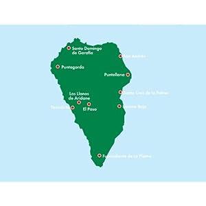 La Palma, mapa de carreteras. Escala 1:40.000. Freytag & Berndt. (Auto karte)