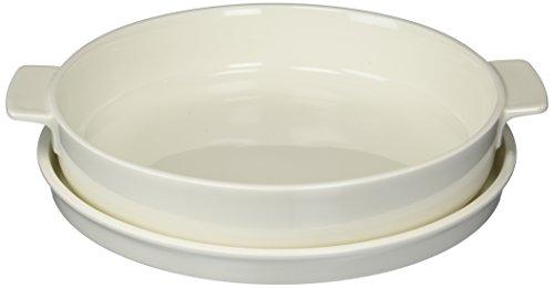 Villeroy & Boch Clever Cooking Runde Backform mit Deckel, 2-teilig, 28 cm, Premium Porzellan, Weiß