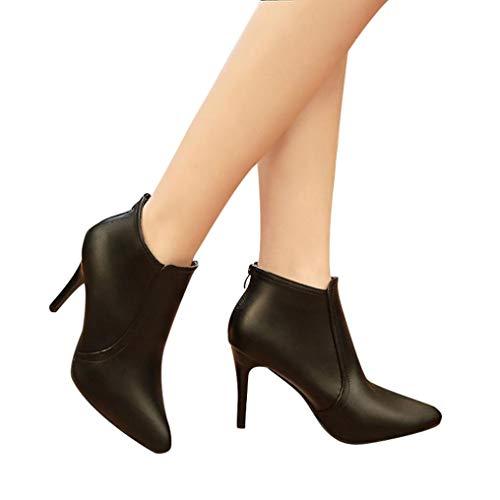Elecenty scarpa col tacco donna Autunno inverno stivali quadrato alto tacco stivaletti abkle nodo scarpe invernali