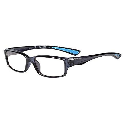 LianSan Fashion Brand Designer Lightweight Tr90 Unisex Eyeglasses Full Frame Glasses for Men Women Spectacle Optical Eye-wear Sport Glasses Frames 8515 (Bright