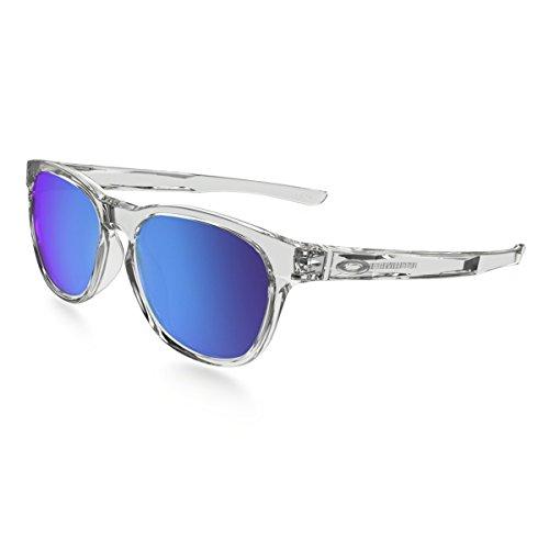 Oakley stringer 931506 55, occhiali da sole uomo, bianco (polished clear/sapphireiridium)