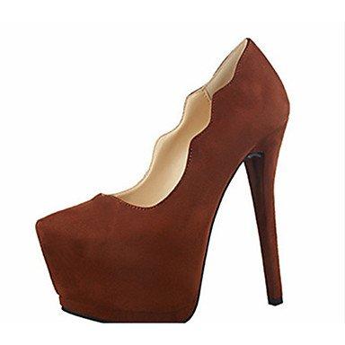 Moda Donna Sandali Sexy donna tacchi tacchi Estate Felpa casual Stiletto Heel altri Nero / Marrone / rosa / rosso / grigio chiaro / Fucsia Altri Brown