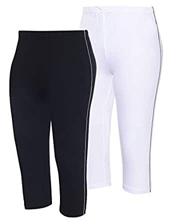 Espresso Women's Regular Fit Capri (Pack of 2)