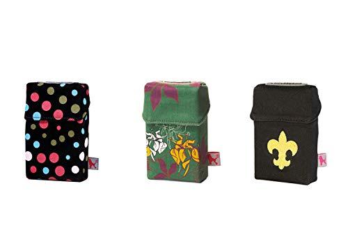 smokeshirt Regular versch. 3er Sets Angebot. Designer Zigaretten-etui Zigaretten-Box Hülle für Zigarettenschachteln (20Zigar.) 3 zum Preis für 2 (So Pretty, Flower Garden, Royal Lily) -