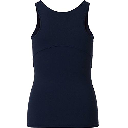 Sportkind Girls & Ladies Tennis/Fitness/Corsa Tank Top blu navy