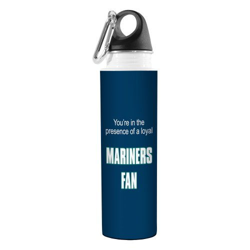 Tree-Free Greetings VB48101 Baseball-Fan, kunstvoller Reise-Wasserflasche, Edelstahl, 510 ml, Mariners -