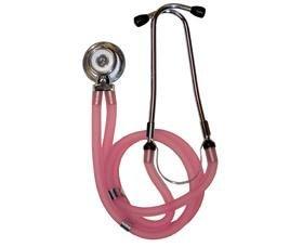 Timesco TD1–13–309, Stetoscopio, doppio tubo, stetoscopio Sprague Rappaport, colore: rosa