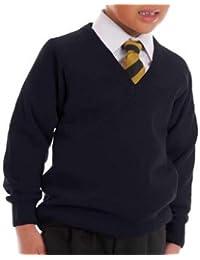 ADBUCKS Premium Quality Boy's School Uniform V-Neck Sweater (Red, Navyblue,Maroon)