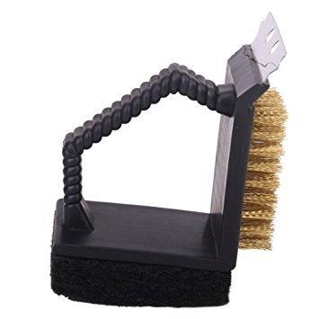 TOOGOOR 3 1 limpiador cepillo esponja parrilla barbacoa