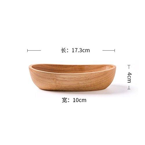 Zhas creative,cucina legno/barca a forma di piatto da dessert di frutta//insalatiera/sushi ciotola/dim sum-a