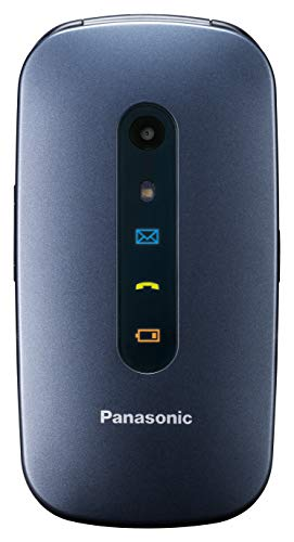 Panasonic KXTU456, Teléfono Móvil para Mayores (Pantalla Color TFT 2.4', Botón SOS, Compatibilidad Audífonos, Resistente a Golpes, Bluetooth, Cámara), Bluetooth 3.0, Linux, Azul