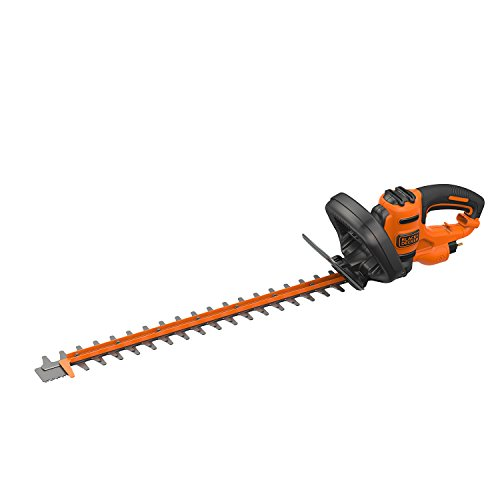 BLACK+DECKER BEHTS501 -QS Taille-Haies Filaire Garde Translucide Ergonomie Optimale et Equilibre, 600 W, Noir, 60 cm/25 mm