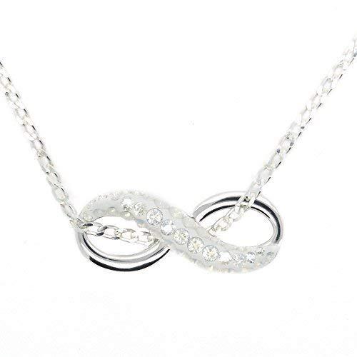 Schwimmdock Charm Infinity Symbol Halskette aus Sterling Silber mit Swarovski-Kristallen für Frauen Palladium überzogenes Basismetall - Infinity- Zeichen