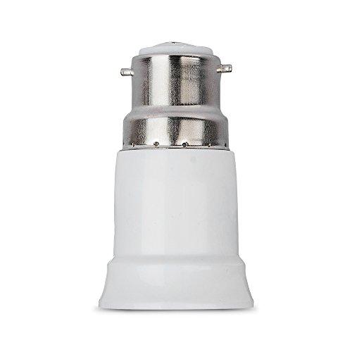 TOP-MAX® Bayonet BC Cap B22 To E27 ES Edison Screw Light Bulb Lamp Base Socket Converter Extender Adaptor Holder Fitting 220-240V Test