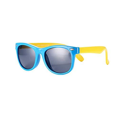 FOURCHEN Kleinkind Sonnenbrille, 100% UV Proof Flexible Baby Sonnenbrille für Kinder (blue)