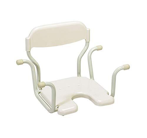 Patterson Medical - Seggiolino sospeso per vasca da bagno, con schienale, colore: bianco