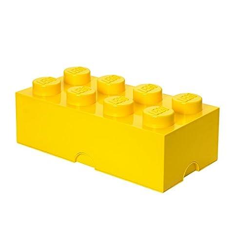 Room Copenhagen RC40041732 Lego Boîte de Rangement 8 Briques Plastique Jaune 45 x 35 x 25 cm