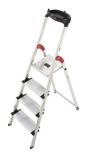 Hailo 8040-401 Escalera de tijera aluminio 4 peldaños