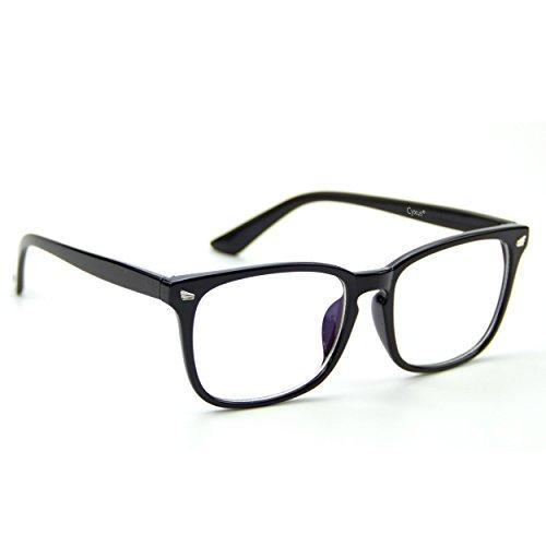 Cyxus transparente linse brillen,gewöhnliche gläser retro mode unisex brillen, schwarz klassisc frame