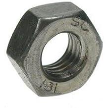 "AHC - Hexagonal whitworth (hex) grado tuercas completa un auto de color acero dulce 5/16 ""bsw (paquete de 50 nueces)"