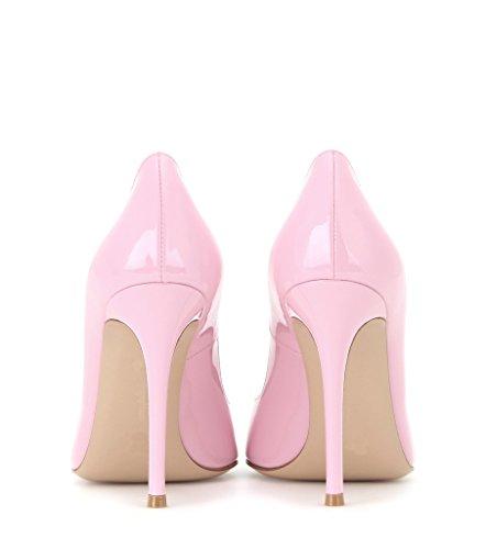 EDEFS Damen Klassische Büro Pumps Spitze Zehen Glitzer Stiletto Absatz Braut Hochzeit Schuhe mit Mehrfarbig Pink