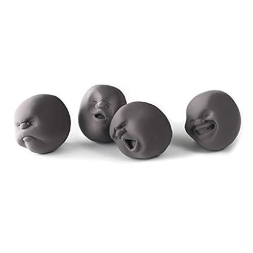 Censhaorme 4pcs / Set Menschliche Emotionen Gesicht Anti-Stress-Squishy Spielzeug Squeeze Druck entlasten Wreak Hand Squeezing Spielzeug (Squishy Menschlichen Körper)