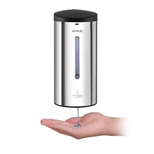 AIKE AK1205 Automatischer Seifenspender Edelstahl Wandmontage mit Infrarot Sensor für Küche und Badezimmer, Große 700 ml Einstellbar, Chrom - Chrom Wand-seifenspender