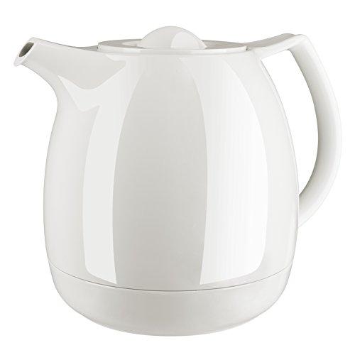 Emsa 503696 Tee-Isolierkanne mit Aroma-Teesieb, 0,6 Liter, 100% dicht, Weiß, Ellipse