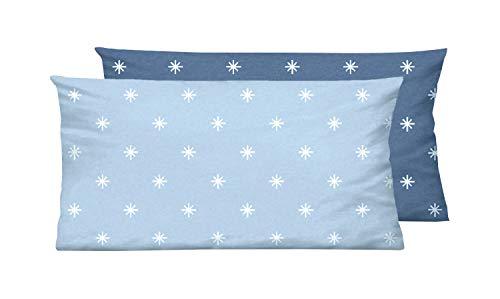 biberna Mix & Match Bettbezug, Abdeckung mit Reißverschluss, Sterne-Motiv Bettwäsche Decke